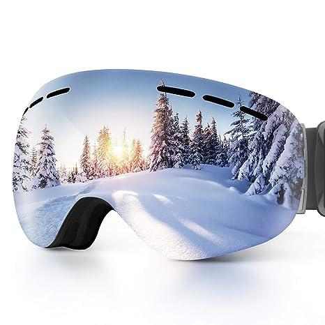 2a5bf1de53a Amazon.com   OBOSOE Ski Snowboard Snow Goggles