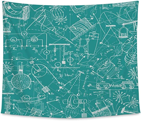 Gear New Wall Tapestry for Bedroom Hanging Art Decor College Dorm Bohemian, Physics Pattern, Large, 104 inches Wide by 88 inches Tall