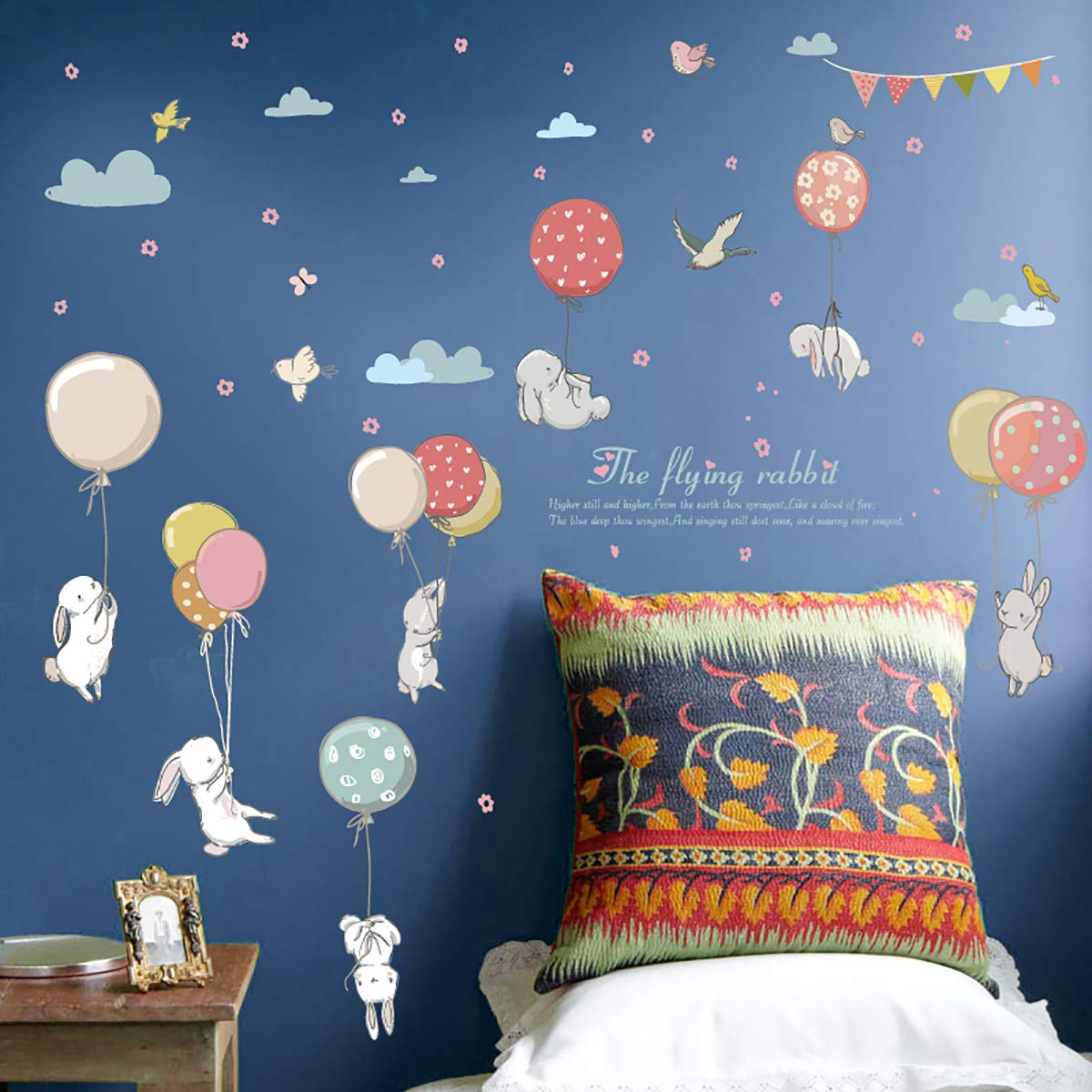 Cartoon Animal Wall Sticker for Kids Room Decoration Nursery Decoration Jungle Theme Peel /& Stick Wall Decals for Baby Playroom Decor Style 5