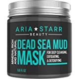 Aria Starr Dead Sea Mud Mask For Face, Acne, Oily Skin & Blackheads - Facial Pore Minimizer, Reducer & Pores Cleanser Treatme