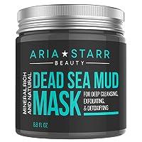 Aria Starr Dead Sea Mud Mask For Face, Acne, Oily Skin & Blackheads - Facial Pore...