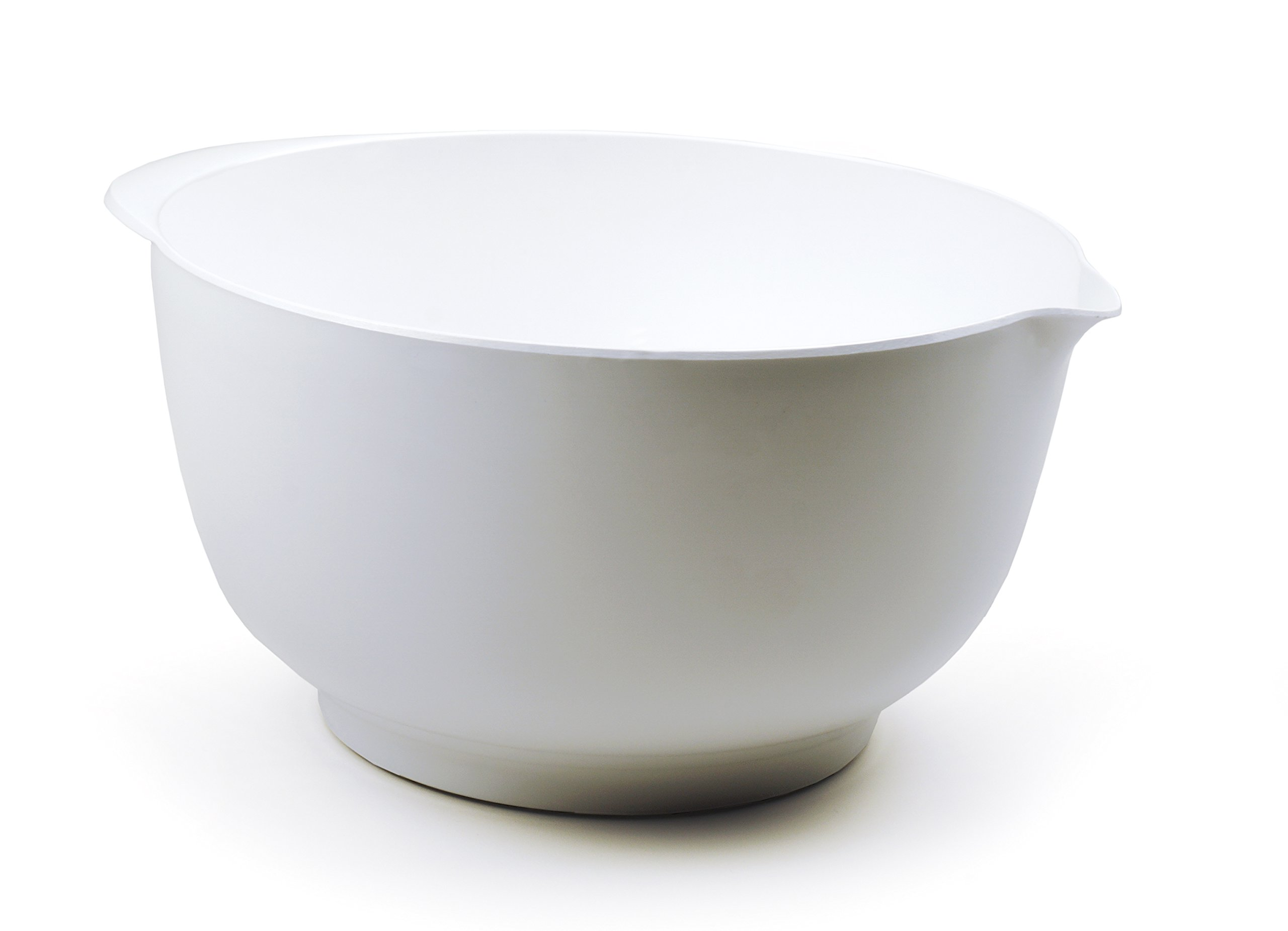 RSVP Melamine Mixing Bowl, White, 4-Quart