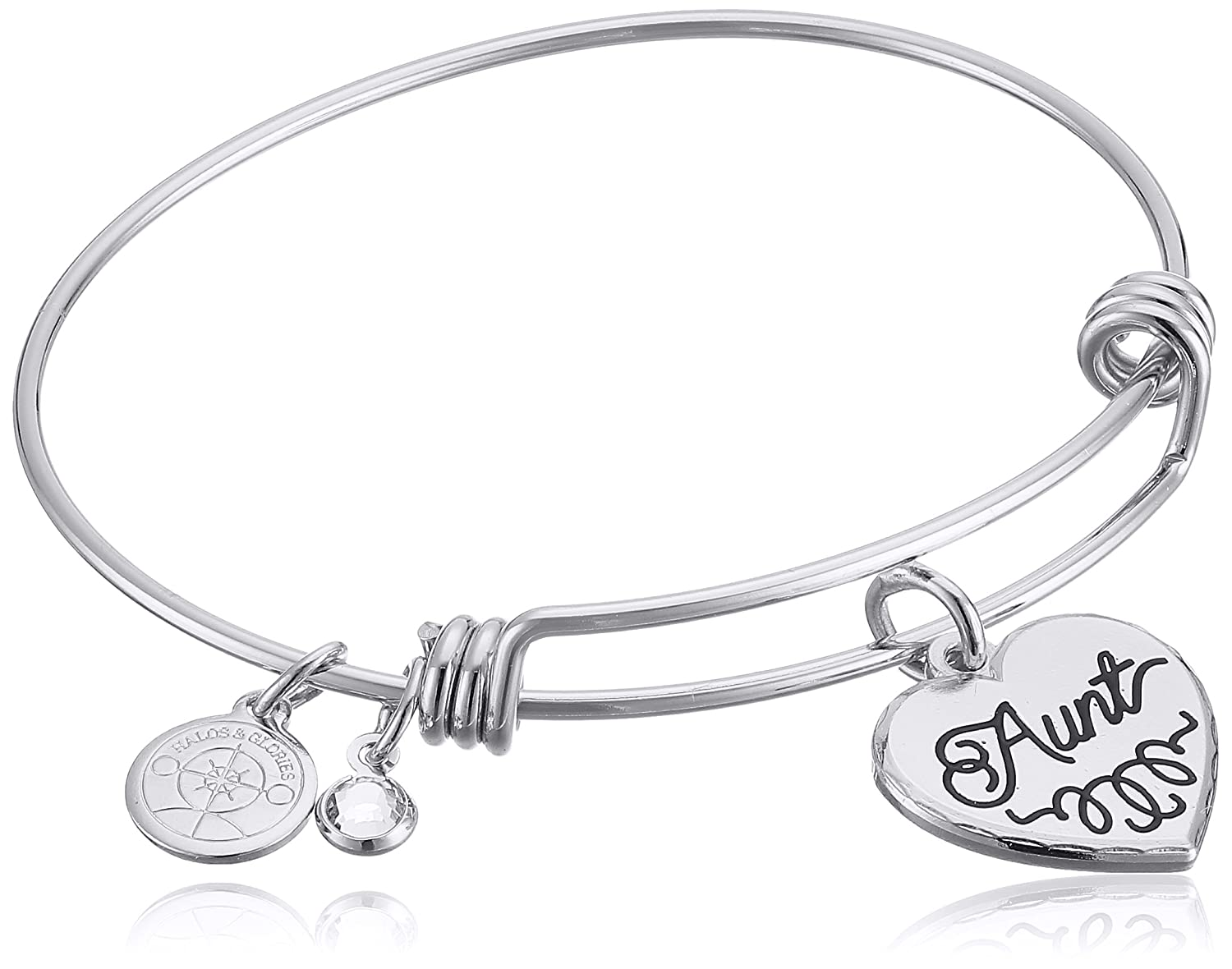 "Halos & Glories, ""Aunt"" Bangle Bracelet"