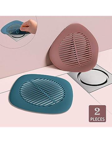 FOONEE 1 pezzo antiscivolo Scarico per doccia Scarico trappola con adesivi Scarico per capelli per box doccia Vasca da bagno in silicone morbido universale Copertura di scarico Protezione di scarico