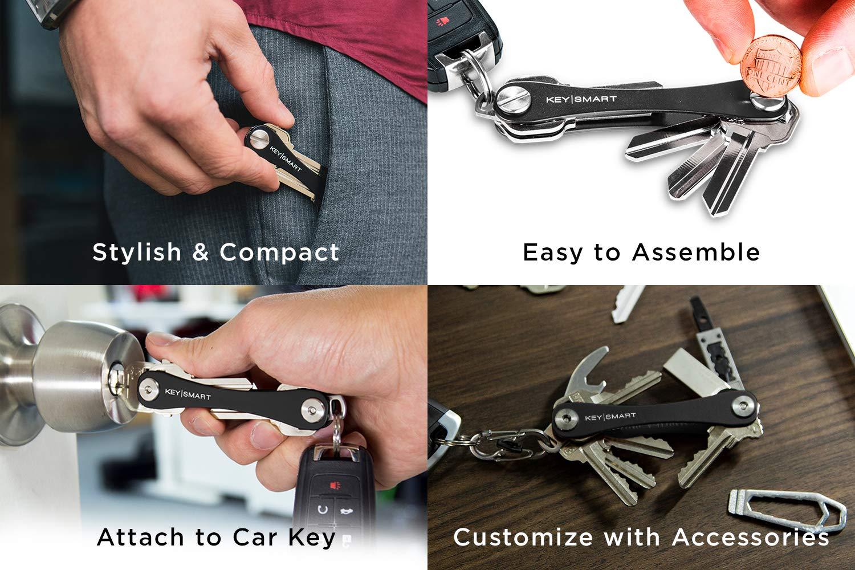 KeySmart - Compact Key Holder and Keychain Organizer (up to 14 Keys)