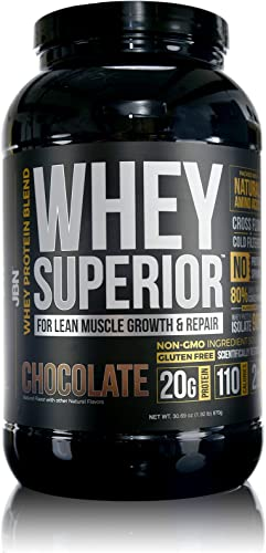 JBN 1 Whey Superior Protein Powder Pasture-Based Whey Isolate and Whey Concentrate, Gluten-Free, Non-GMO, 20G of Protein, Delicious Taste, Lean Muscle, Weight-Loss, 3rd Party Tested