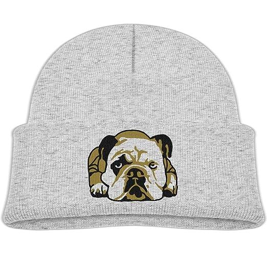 0e5b661be Amazon.com: Qiop nee Beanie Hat Wool Skull Caps English Bulldog Boy ...