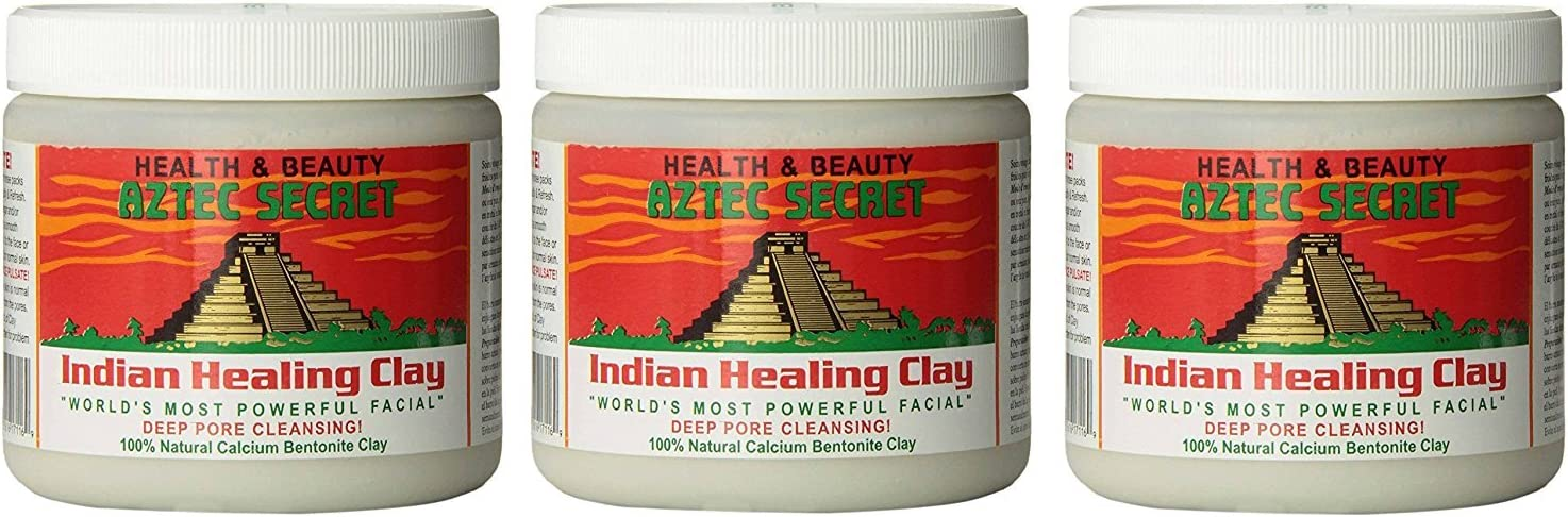 Aztec Secret Indian Healing Clay Deep Pore Cleansing, 1 Pound (3 PK)