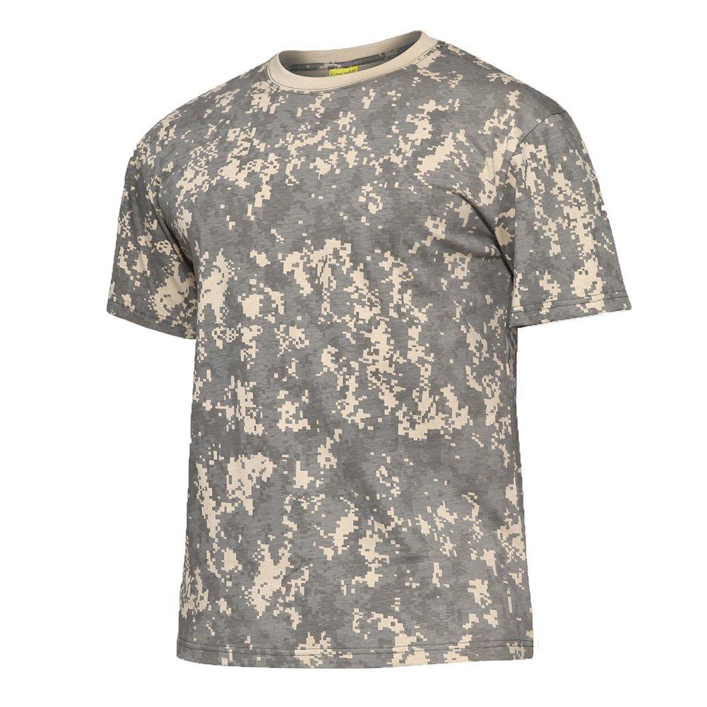 tacvasenメンズミリタリー迷彩スリムフィット半袖TシャツコットンT B0739PDSSK Large|ACU ACU Large