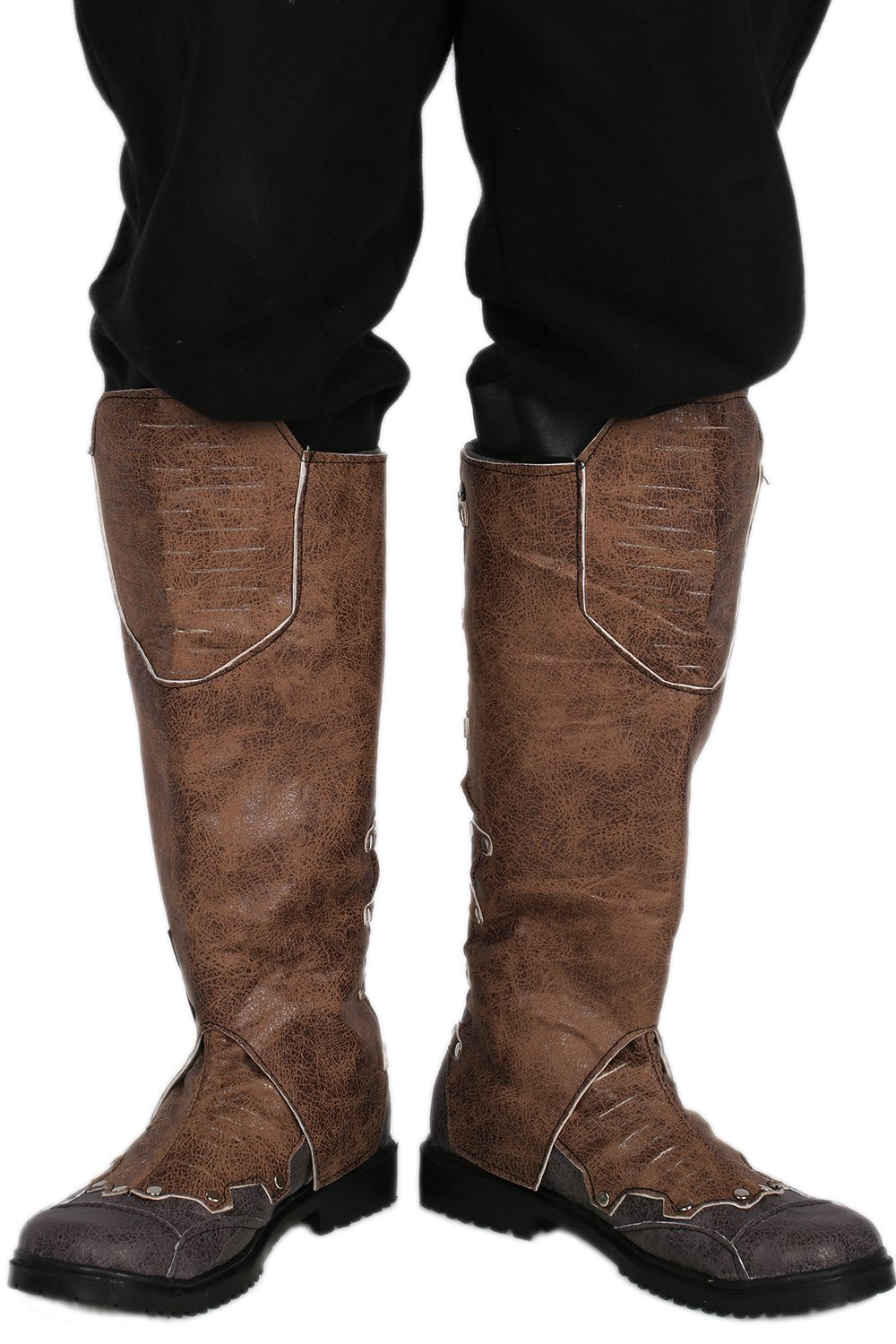 Star Quill Shoes Deluxe Brown PU Adult Cosplay Boots Costume Accessory 46 by CosplayRim