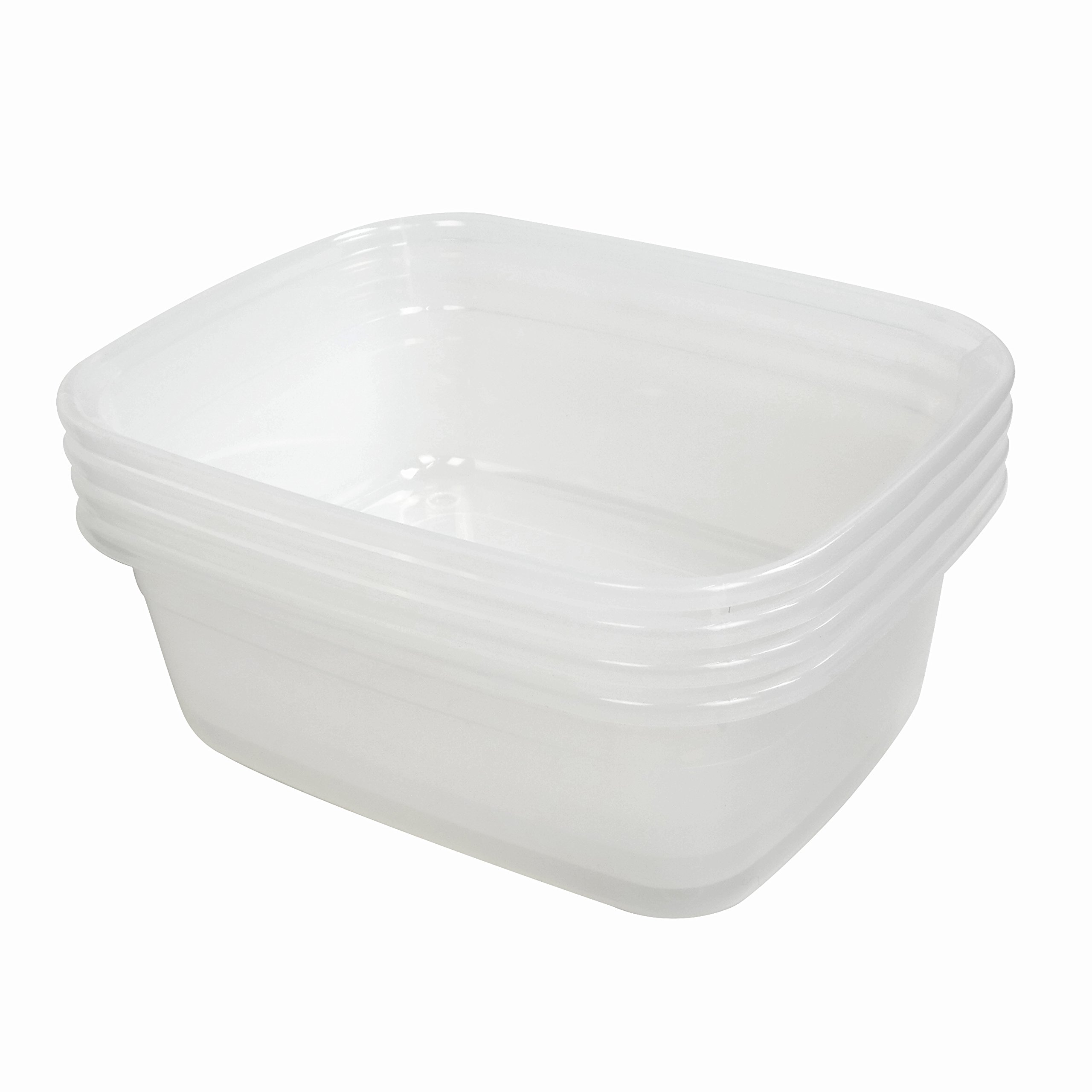 Ramddy Clear 14 Quart Dish Pans, 15.16'' by 12'' by 5.7'', Set of 4