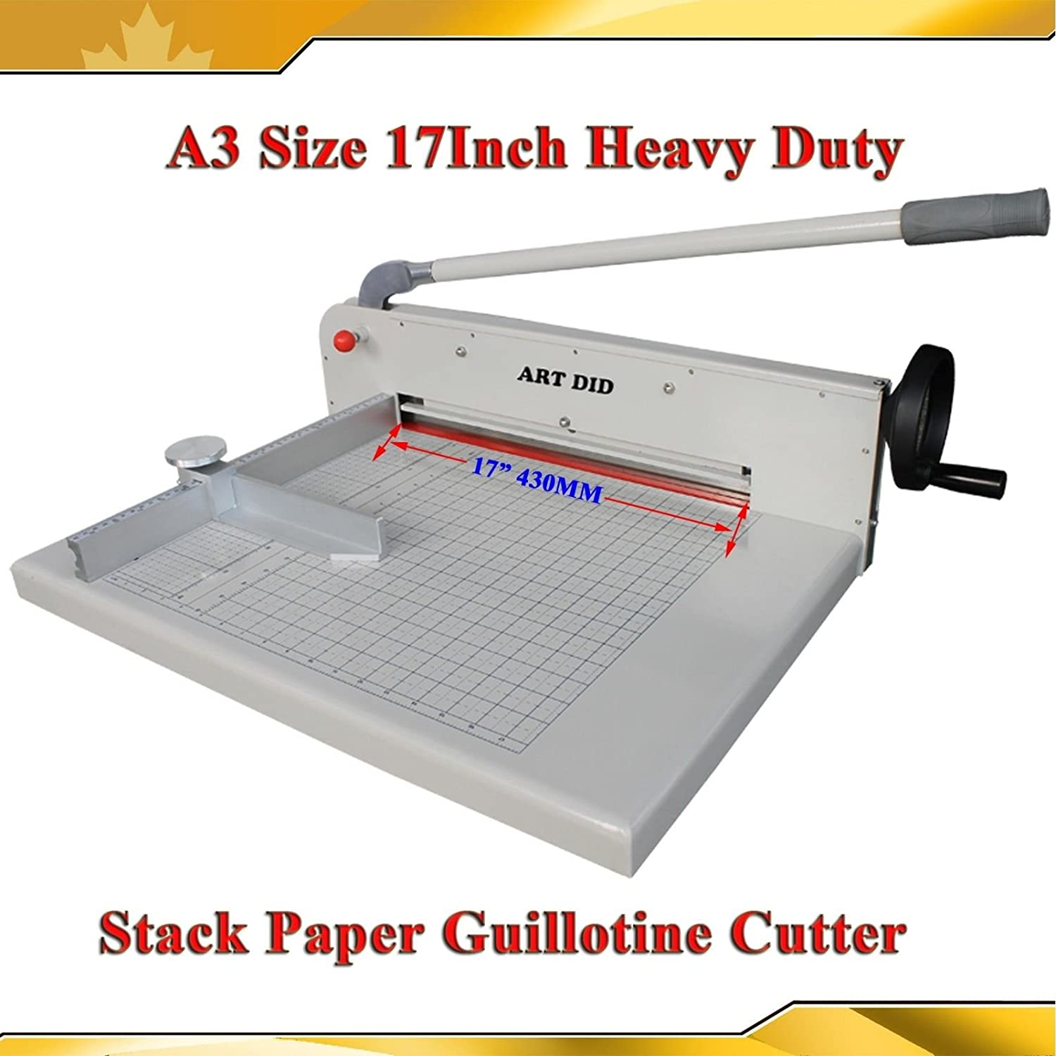 Brand New Heavy Duty All Steel 17inch A3 Stack Paper Cutter Guillotine Trimmer(Item #026412) CN