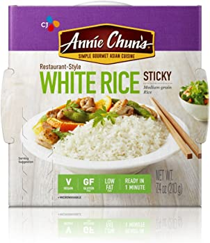 6-Pack Annie Chun's Cooked White Sticky Sushi Rice