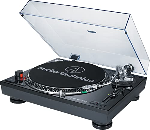 Audio-Technica AT-LP120BK-USB Direct-Drive Turntable USB amp Analog with Knox Record Cleaner Kit