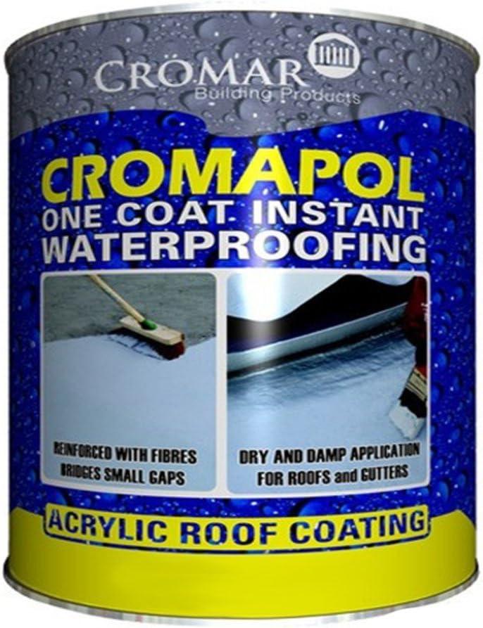 Cromapol Acrylic Waterproofing Coating Grey 2 5 Kg Amazon Co Uk Diy Tools