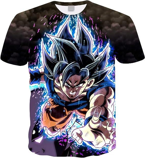 Camiseta Dragon Ball 3d Impresión - Fabricado en poliéster de alta calidad. Suave y comodo transpirable. Tallas: XXS-XS-S-M-L-XL Camiseta Niños