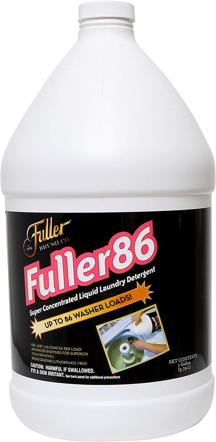 Fuller Brush 86 Super-Concentrated Liquid Laundry Detergent - Mild & Unscented Clothing Cleaner for Washing Yoga, Workout & Running Clothes - Clean Clothes for Men, Women, Infant & Kids