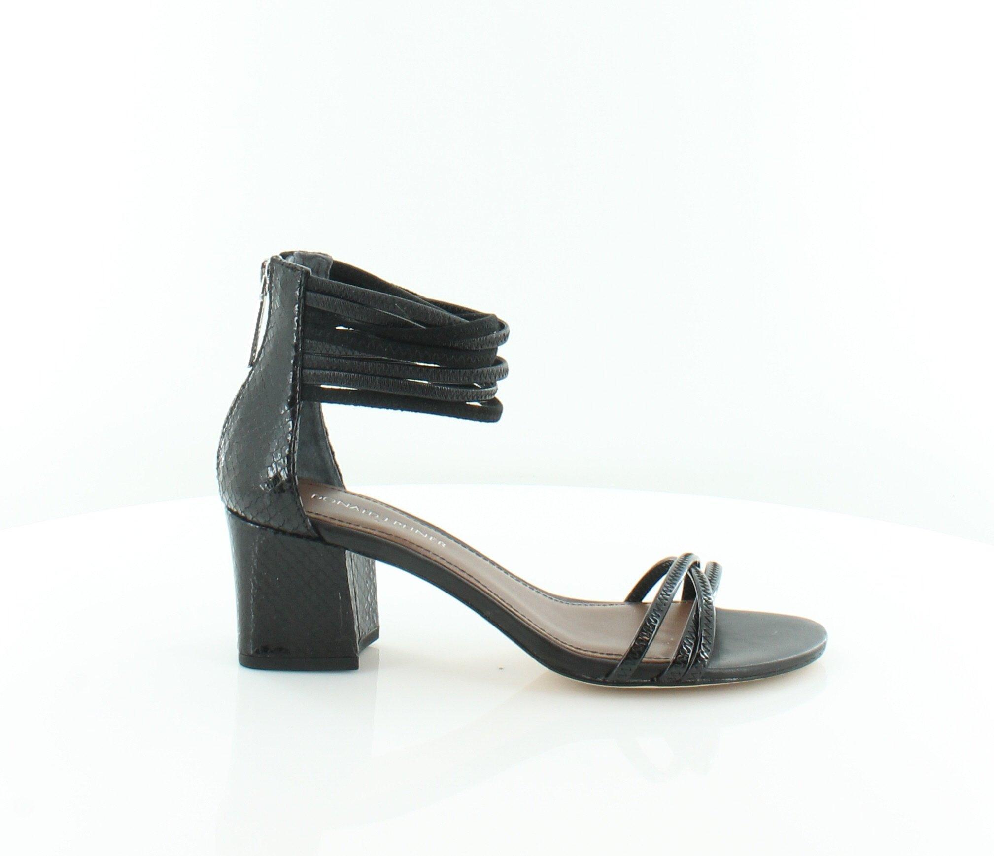 Donald J Pliner Women's Essie Dress Heeled Sandal Black/Black Size 8 M US