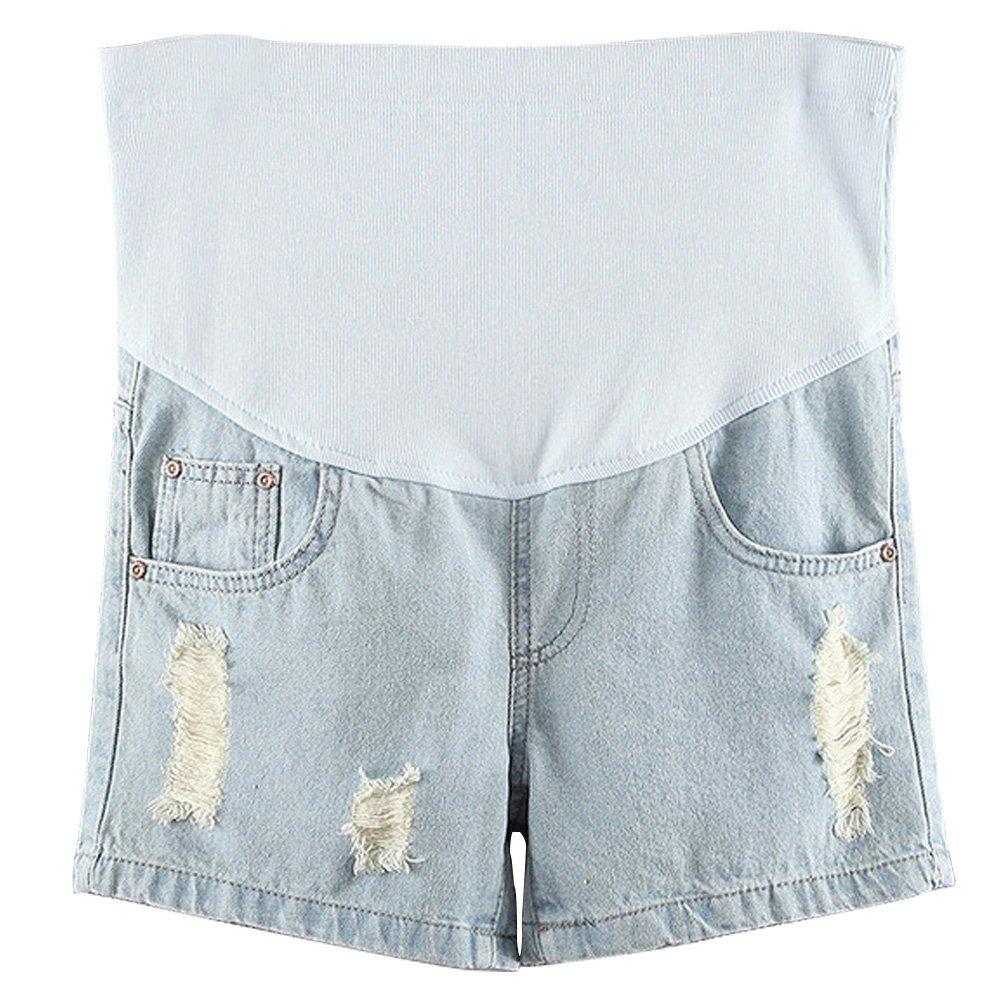 Deylaying NEU Mode Damen Umstands Jeans Shorts Schwangerschafts-shorts mit Unterleibstütze