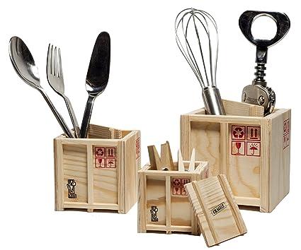Design Studio Labyrinth Bcn Inbox Desk Crates Wooden Set Of 3 Designer Shipping Boxes