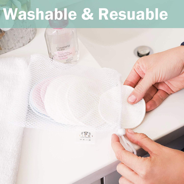 SYOSIN Abschminkpads Waschbar Sanft Makeup Entferner Pads f/ür Saubereres Gesicht Abwischung Wattepads Wiederverwendbar mit W/äschesack 18 St/ück 100/% Vegan und Plastikfrei /& Nachhaltig