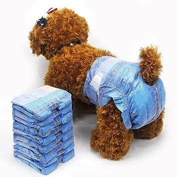 Pet Soft Pañales Suaves para Mascotas, Vaqueros superabsorbentes, Pañales Desechables para Mascotas, Estilo