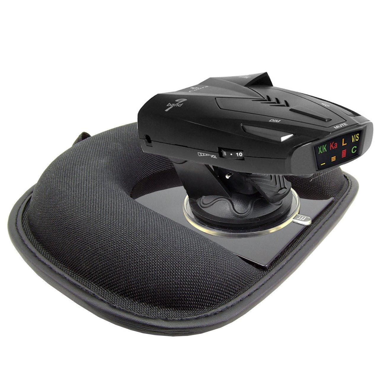 AccessoryBasics Car Dashboard Platform Beanbag & Suction Cup Mount for Radar Detector Escort Passport 8500x50 9500 Max S55 X80 Redline EX iX S3 S4 Beltronics Uniden R3 Whistler Cobra ESD XRS SPX by ChargerCity (Image #2)