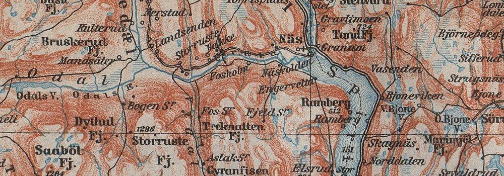 Amazoncom Kroderen Randsfjord Valdres Dokka Gjovik Jaren - Norway valdres map