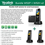 Yealink W52P + W52H X2 Cordless VoIP Phone PoE HD Voice and Base Unit