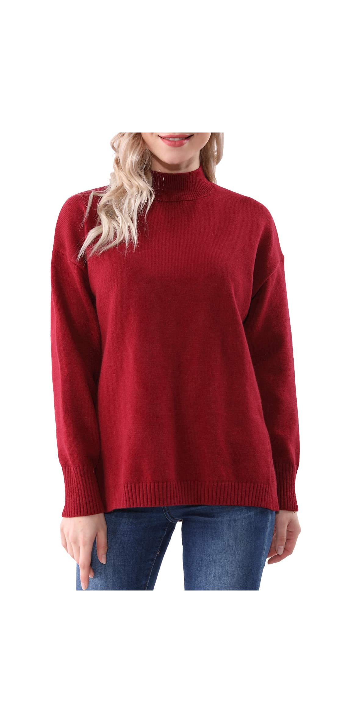Womens Cashmere Oversized Knitted Long Sleeve Fall Winter