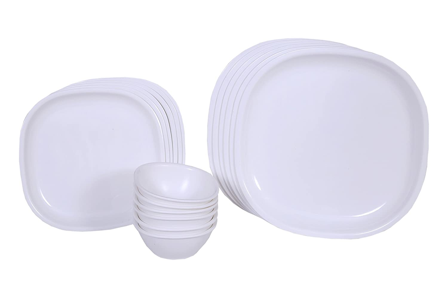 Buy Signoraware Square Dinner Set 23 Pieces White Online At Low Tupperware Open House Oh Serving Prices In India