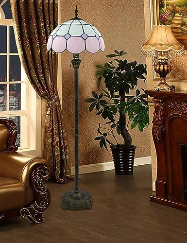 Lámpara de pie de cristal pintada a mano con estilo mediterráneo ...