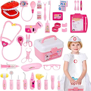 Gifts2u Pink Doctor-Nurse-Dentist Role-playing Kit