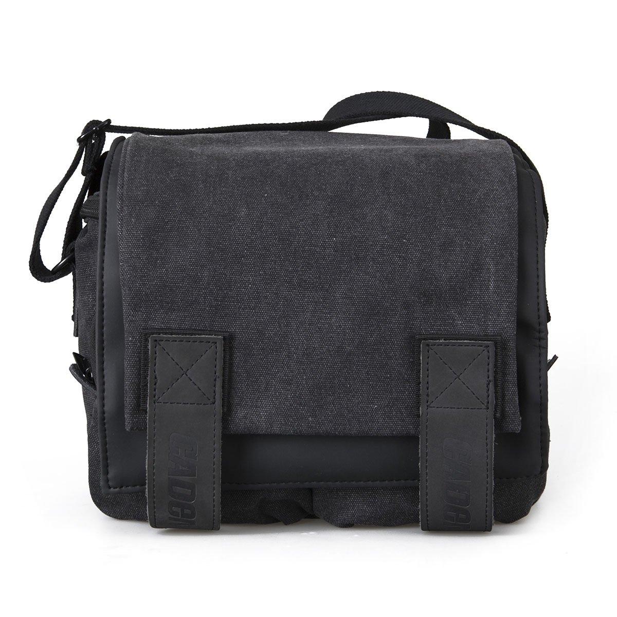 Peacechaos Messenger Bag Leather Canvas Shoulder Bookbag Laptop Bag + Dslr  Slr Camera Canvas Shoulder Bag (Black)  Amazon.co.uk  Computers    Accessories 8cf4e97cc9