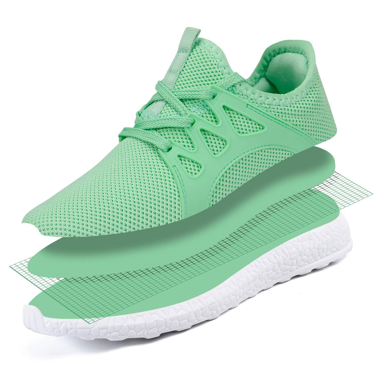ZOCAVIA Herren Damen Sneaker Running Laufschuhe Sportschuhe Rutschfeste Ultraleichte Mesh Turnschuhe Schwei/ßbest/ändig Schnell Trocknend