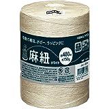 コクヨ 麻紐(ホビー向け) ホワイト色 480m巻 チーズ巻き ホヒ-35W