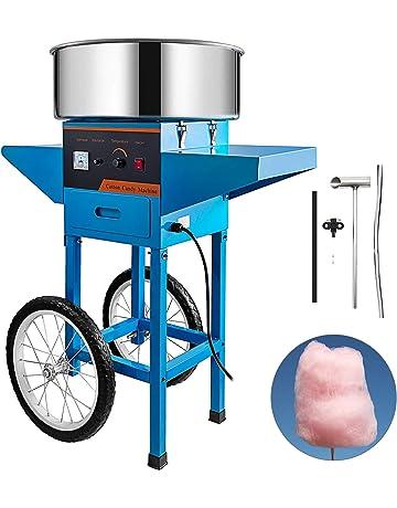GIOEVO Macchina per Zucchero Filato Commerciale da 20,5 Pollici Macchina per Zucchero Filato in Acciaio Inossidabile Blu Cotton Candy Maker Blu