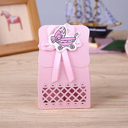 Kicode 12pcs Infantil del bebé de cumpleaños linda de plástico Alimentador botella de leche Regalo contenedor