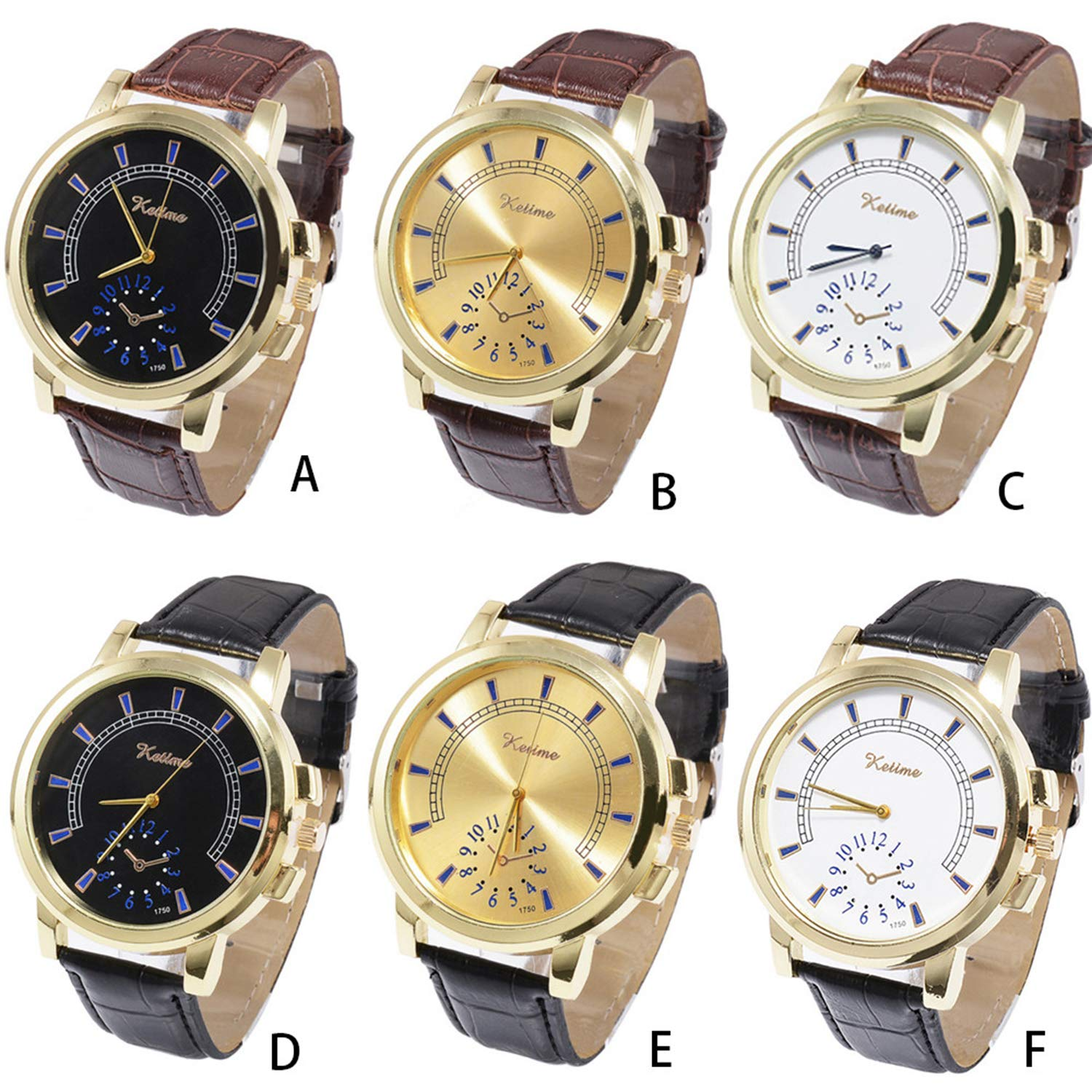 Amazon.com : Waist Watch Men Fashion Luxury Watch Simple Large Dial Quartz Wrist Watches Relogio Masculino Business Saat Gift Reloj Hombre : Office Products