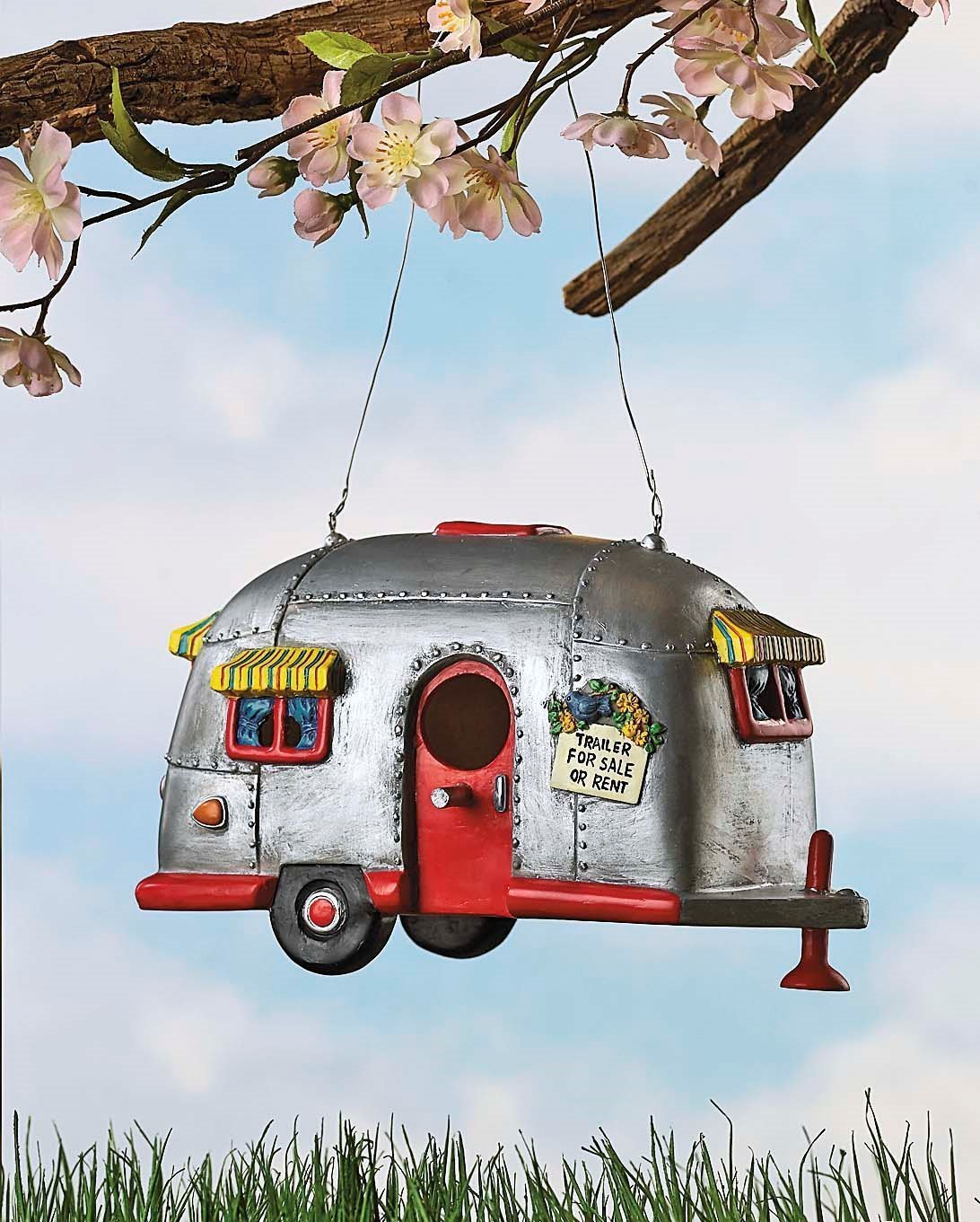 amazon com camper birdhouse trailer bird house airstream style