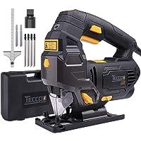 Scies Sauteuses, TECCPO Professional 800W Scie Sauteuse électrique, avec Guide Laser, Hauteur de Course 22mm, 3000SPM, Angle Max 45°, 6 Vitesses - TAJS01P