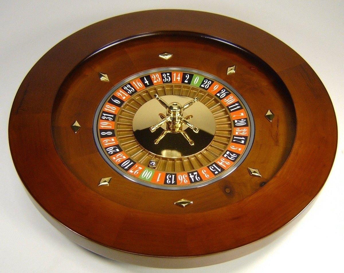 New MTN-G 18'' Solid Wood Roulette Wheel Las Vegas Casino Professional Style w Rake & Ball
