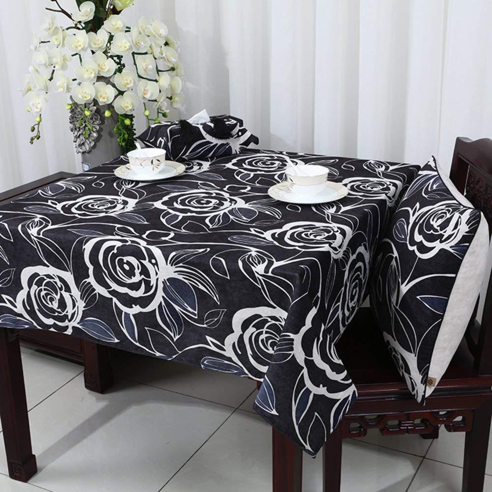 Shuangdeng Europeantyle牧歌的なテーブルクロスモダンなミニマリストスタイルのダイニングルームのテーブルクロス (Color : F, サイズ : 140x220cm(55x87inch)) 140x220cm(55x87inch) F B07S869YH5