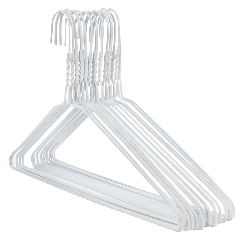 Hangerworld 20 Draht Kleiderb/ügel 40cm Wei/ß Mit Einkehrbung Metall-Kleiderb/ügel Extra flach