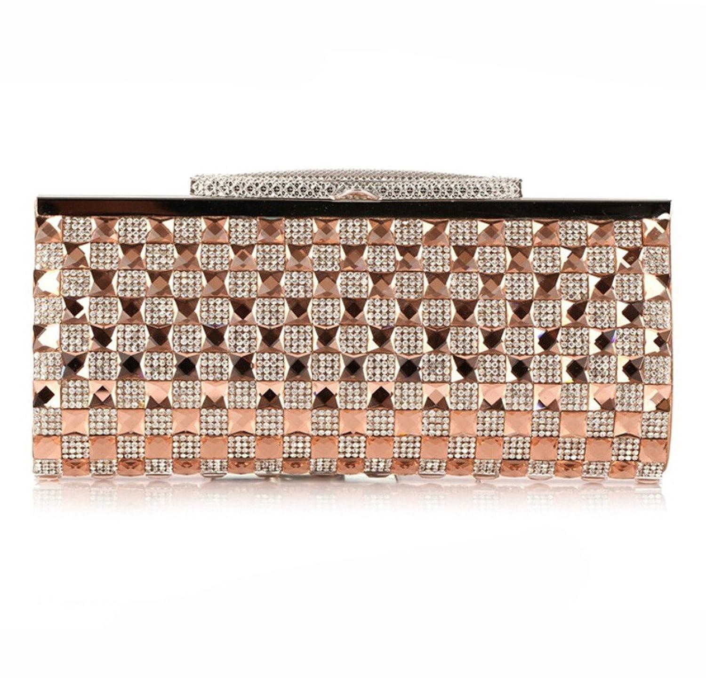 Abless Womens Glamour Elegant Evening Clutch Fashion Purse Chain Handbag - SK761