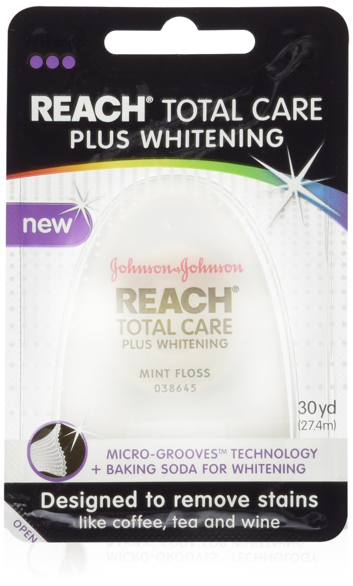 Reach Total Care Plus Whitening Mint Floss, 30 Yard (Pack of 6)