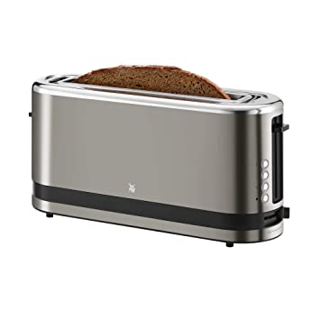 WMF 0414120041 Cocina Minis Tostadora de ranura larga, acero inoxidable, Cromargan Mate