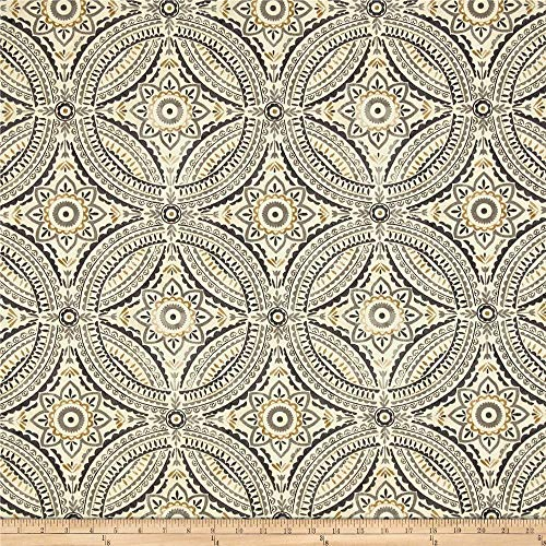 Tommy Bahama Kelly Ripa Home Indoor/Outdoor Blissfulness Fabric by The Yard, Pewter