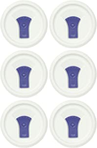 CorningWare FM-22-VPC 20oz French White Round Soup Mug Pop-Ins Vented Lid - 6 Pack