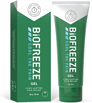 Biofreeze Exercise Fitness /& Training Topical Pain Reliever Gel 1oz Tube X 12